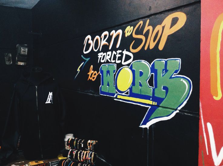 Born to Shop,Forced to Work #neothree #streetart #graffiti