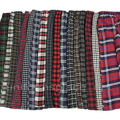 Men Flannel Pajamas Pants Loungewear Pants 100 Cotton Plaid PJ Sleepwear s 2X | eBay