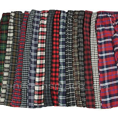 Men Flannel Pajamas Pants Loungewear Pants 100 Cotton Plaid PJ Sleepwear s 2X | eBay