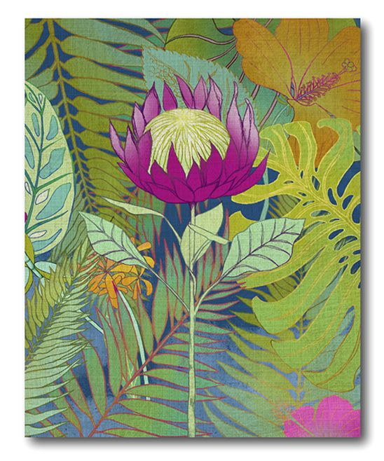 Tropical Tapestry I Wrapped Canvas