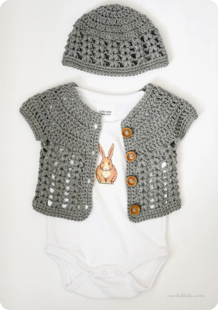Cute crochet cardi for baby.