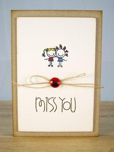 19 best miss you cards images on pinterest miss you cards diy cardmaking ideas for everyday miss you friendship handmade card psaessentials crafts m4hsunfo