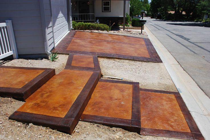 Stained Cement Patios Pristine Concrete Paso Robles Ca