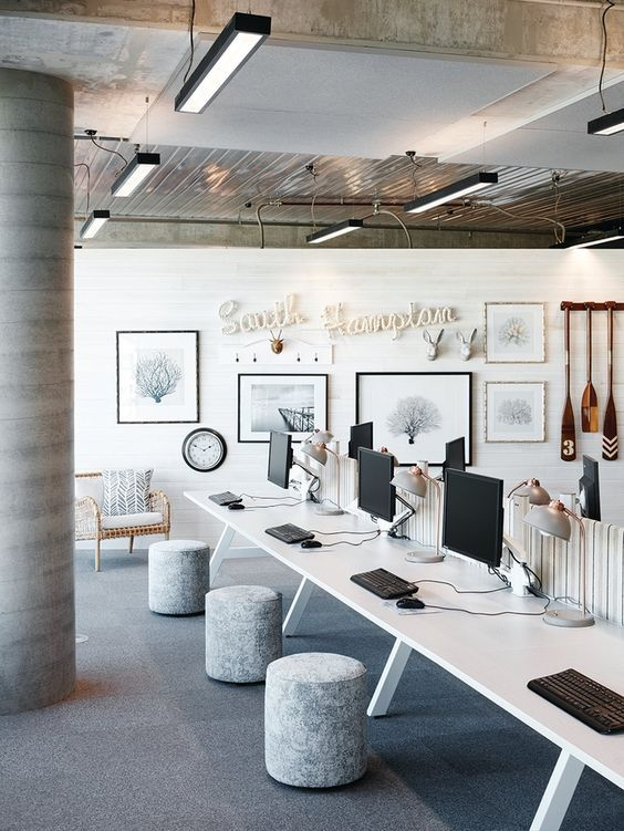 64 best commercial office interior design - vintage industrial