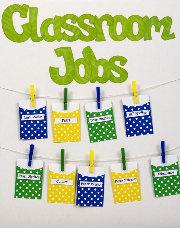 Modern Classroom Recorder ~ Library pockets classroom jobs chart education