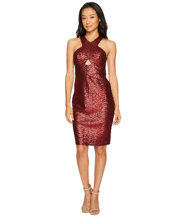 AIDAN MATTOX Sequin Cocktail Dress. #aidanmattox #cloth #