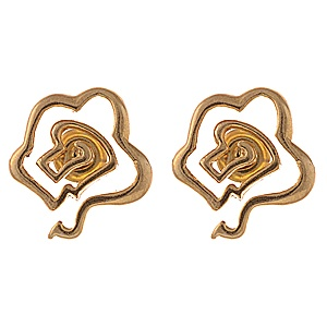 Gold Plated Sterling Silver Rose Studs...available only at yaasna.com