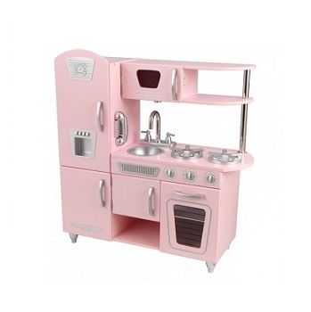 Pink Vintage Kitchen|$259.95 #kids #toddler #kidskitchen #playtime #sweetreations
