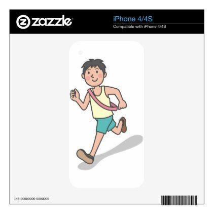 #Running Anime Boy iPhone 4S Skins - #travel #electronics