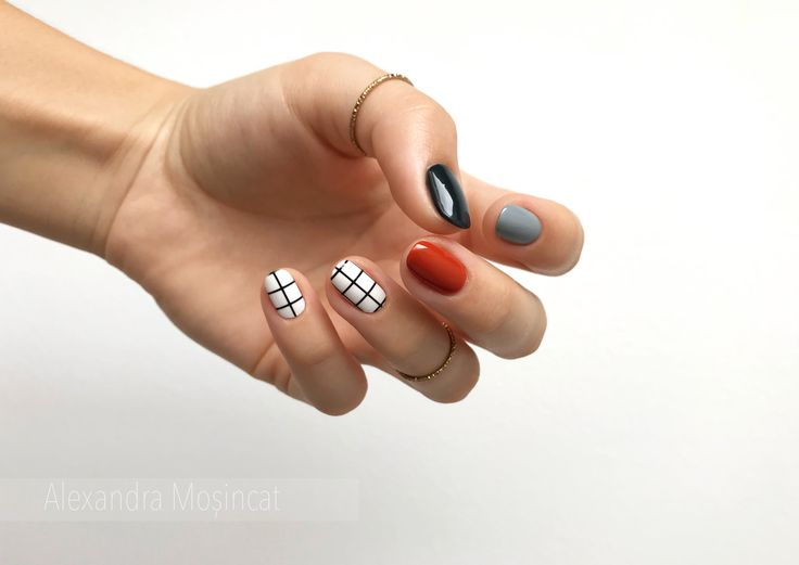 primary color pattern nail art
