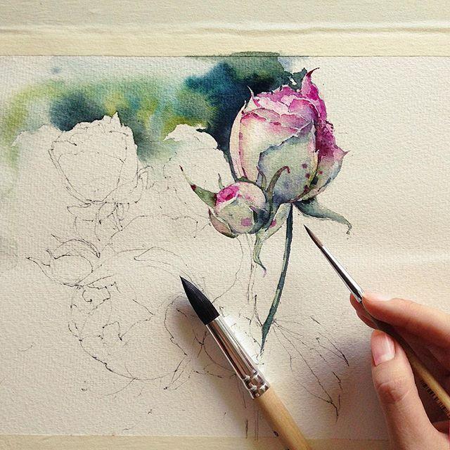 25+ best ideas about Watercolor flowers tutorial on Pinterest ...