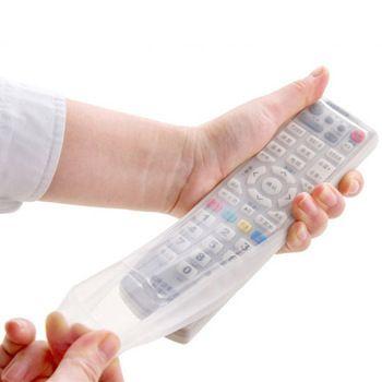 Silikon Organizer Penyimpanan Kotak Transparan TV Remote Control Penutup Debu Pelindung Aksesoris Perlengkapan Rumah Grosir Massal