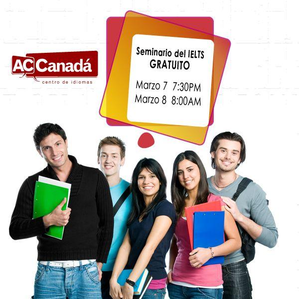 Seminario y simulación gratuita del IELTS en Bogotá.  Próximas fechas: Viernes 7 de marzo a las 7:30 PM Sábado 8 de marzo a las 8:00 AM  Lugar: Calle 121 #6-46 Oficina 119 Bogotá, Colombia  La fecha del examen está cerca, ¡prepárate!  Inscripción: http://190.144.31.94/acsolutions/jobs/publicregistro/RFloRzkzYjBxeUpmSXhmczJndVZvVXViV3d2bmlSMkcwRmdhQzltYXNkYXNkaQ==:7685934234309657453542496749683645/Y2FtcGFpbg==:15/a2V5Zm9ybQ==:RFloRzkzYjBxeUpmSXhmczJndVZvVXViV3d2bmlSMkcwRmdhQzltYXNkYXNkaQ==