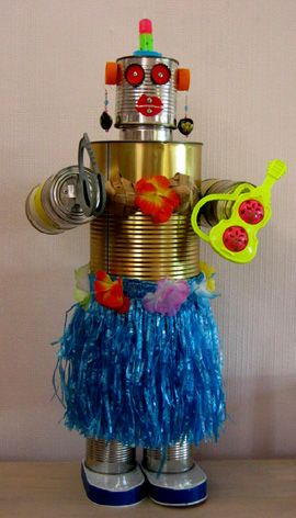 art sculptures made from recycled materials | like the look of this robot. It could look cool as a bigger ...