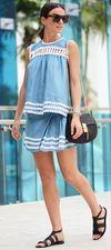 Skirt: Style Mafia, Top: Style Mafia, Sandals: Di Gaia, Bag: Chloe, Sunglasses: Le Specs