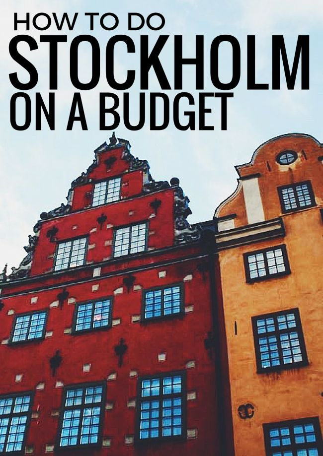 How to do Stockholm on a Budget