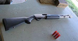 The Remington 870 Marine Magnum.