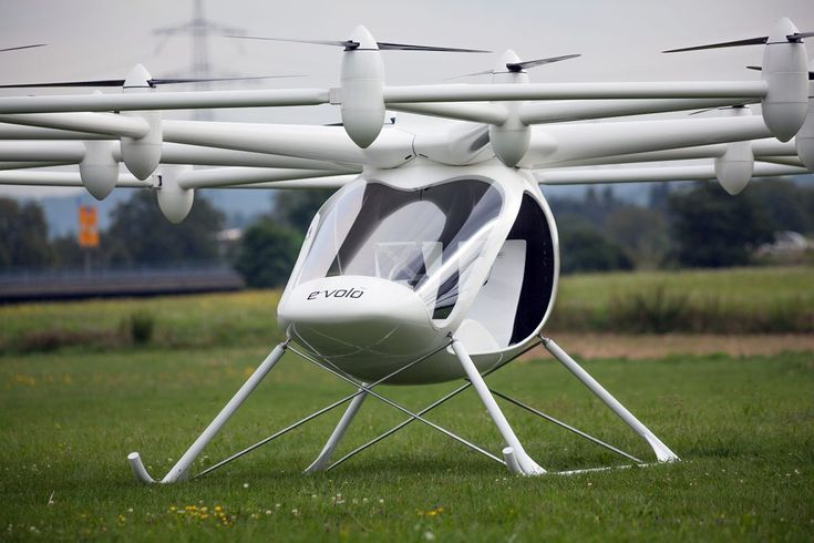 E-volo's Volocopter is a revolution in aviation Made in Germany. Safer, simpler, and cleaner than normal helicopters, it has a unique way of moving – a groundbreaking innovation. The Volocopter is an environmentally friendly and emission-free private helicopter. Instead of one combustion engine, eighteen electrically driven rotors propel it.
