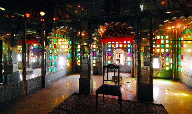 colored glass pavilion