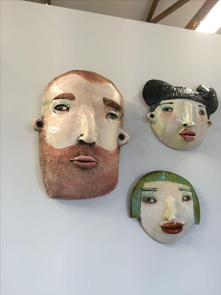 Ceramic faces by Hayley hamilton