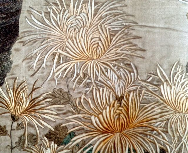 Ashmolean chrysanthemums embroidery | Flickr - Photo Sharing!