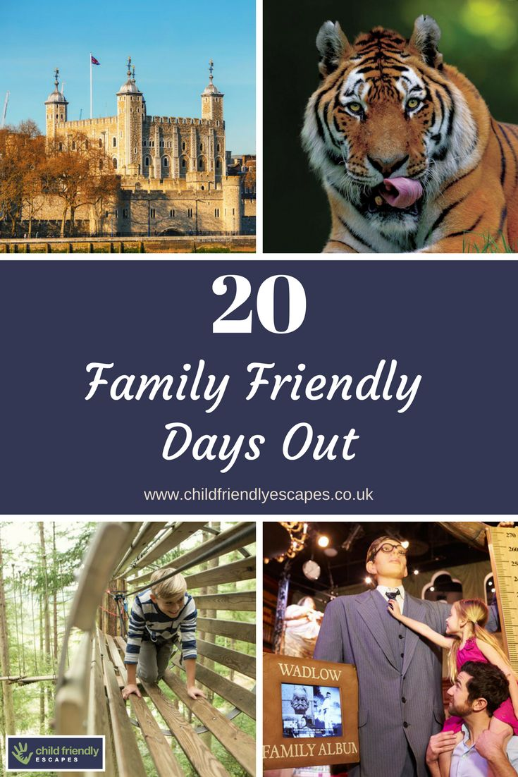 With May Half Term coming up and the school holidays looming, you may be looking for some ideas for family days out. Here are 20 to keep every member of the family happy and entertained.