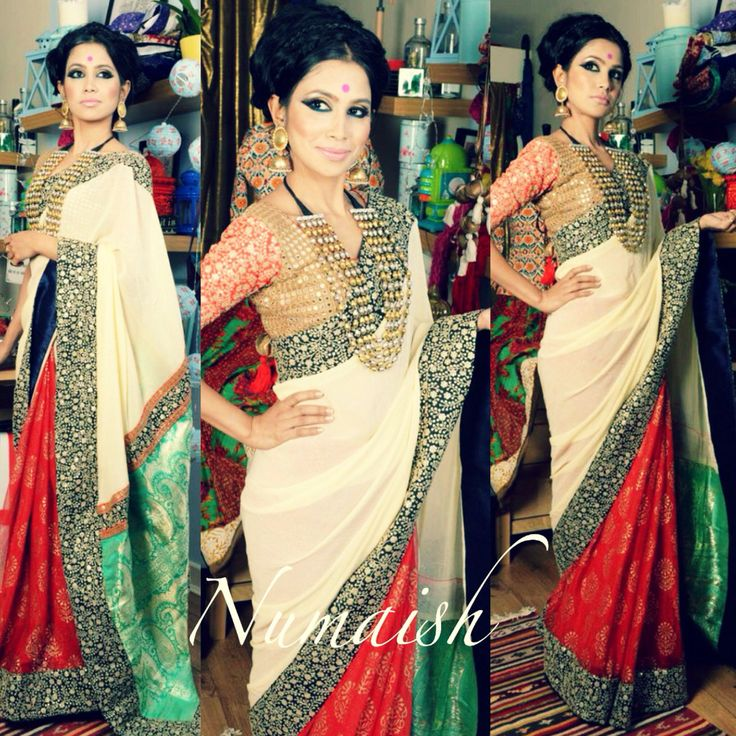 Numaish by Ayush Kejriwal This saree is absolutely stunning! I had so much fun making it! The gorgeous red, in vity against the mint green Benarsi pallu all pulled together with the embellished border. One thing is guaranteed this saree will certain turn heads! For purchases email me at ayushk@hotmail.co.uk or what's app me on 00447840384707 We ship WORLDWIDE. #sarees,#saris,#indianclothes,#womenwear, #anarkalis, #lengha, #ethnicwear, #fashion, #ayushkejriwal,#bollywood, #vogue…