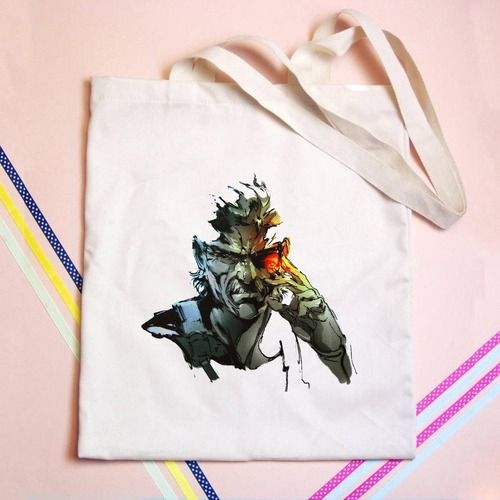 Metal Gear Solid Old Snake Tote bag - GOGOLFNW.COM