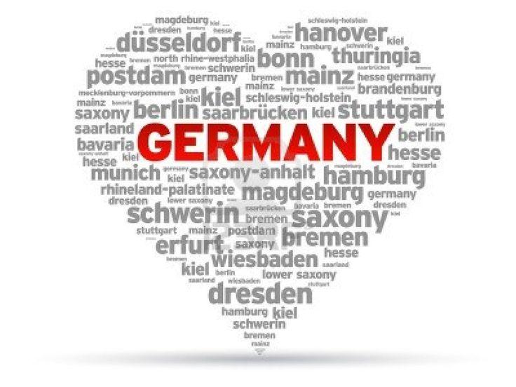 I Love Germany heart Illustration on white background. Stock Photo - 11094582