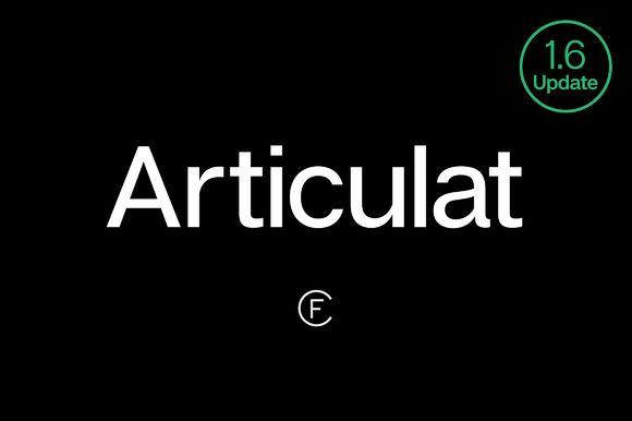 Articulat CF Modern Sans-Serif Font by Connary Fagen Type Design on @creativemarket