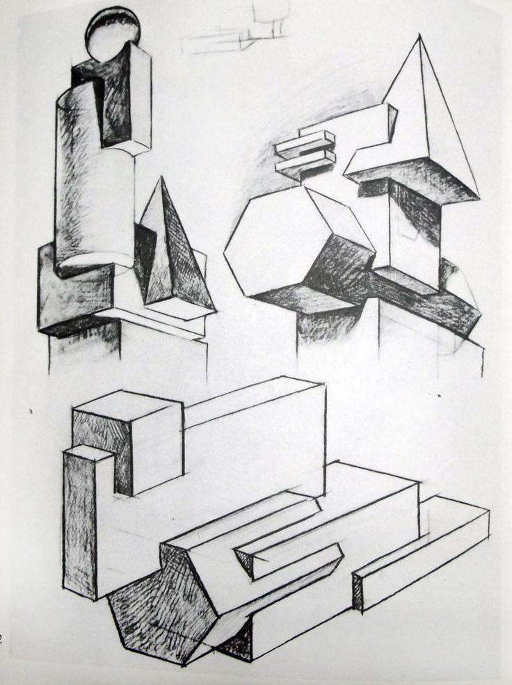 объемные композиции из геометрических фигур - Google Search