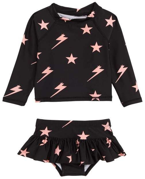TINY TRIBE | Lightning Two-Piece Rashguard (Baby) | Nordstrom Rack
