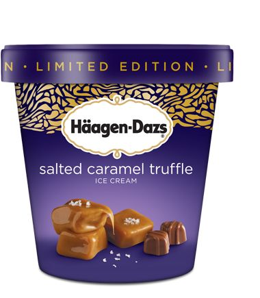 Häagen-Dazs® - Products - Salted Caramel Truffle Salted Caramel Truffle ICE CREAM Everyone should try this! Best ice cream ever! Thank goodness it is a limited edition!!!!
