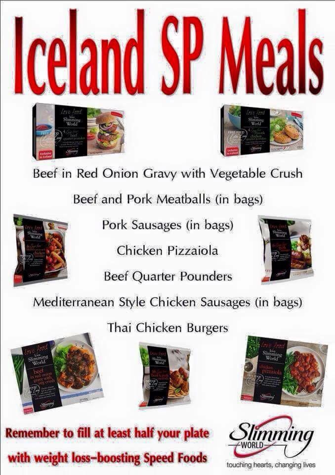 Iceland Slimming World SP meals