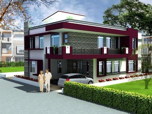 Duplex House Plans Of 100 Sq. Yards