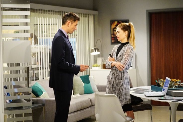 The Young and the Restless's Billy Abbott (Jason Thompson) has been trying to get back in the good graces of his ex-wife Victoria Newman (Amelia Heinle), so will all his hard work begin to pay off?      Y&R spoilers tease that Billy Abbott will return home from a business meeting and Victo