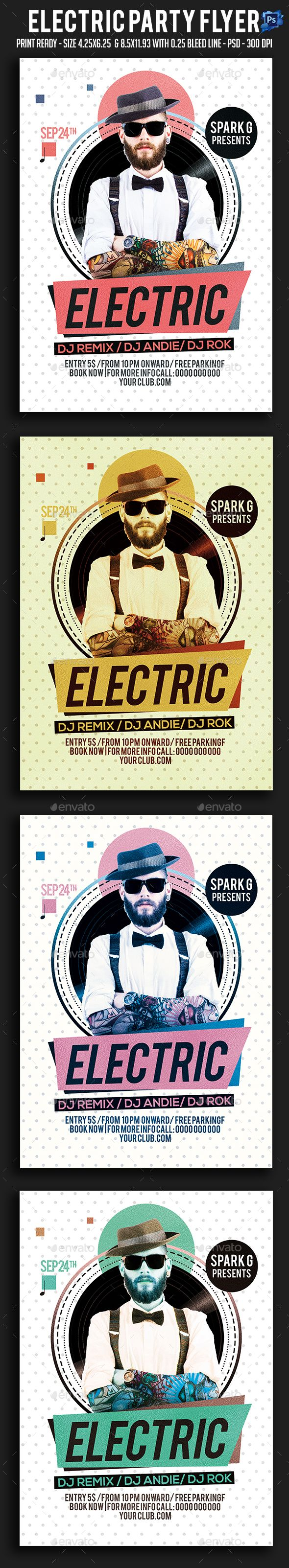5s poster design - Electric Party Flyer