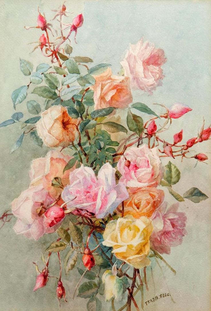 Watercolor Quotes Wallpaper Teresa Maria Hegg Swiss 1829 1911 акварель