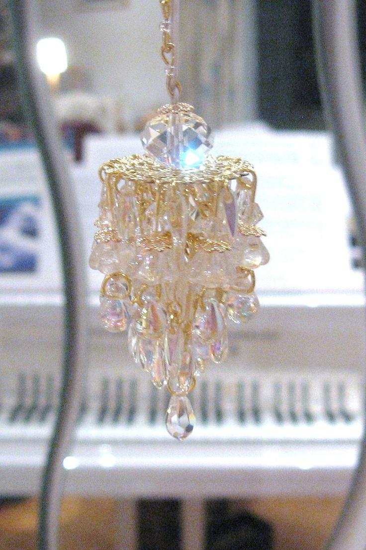 52 best dollhouse lighting images on pinterest doll houses dollhouse chandelier light glass and crystals aurora borealis 2000 via etsy arubaitofo Choice Image