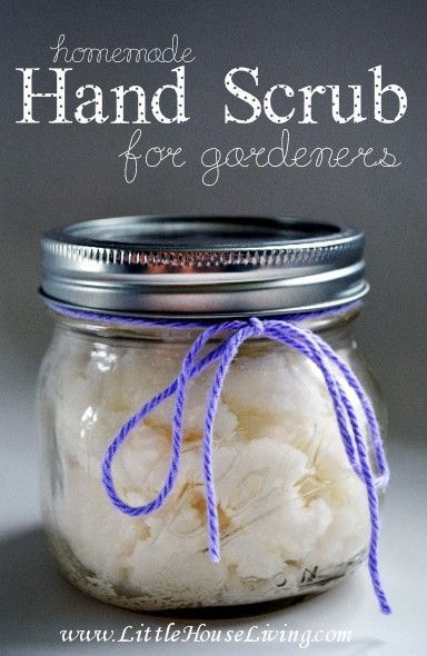 Homemade Hand Scrub for Gardeners. Incredibly simple to make but incredibly effective!