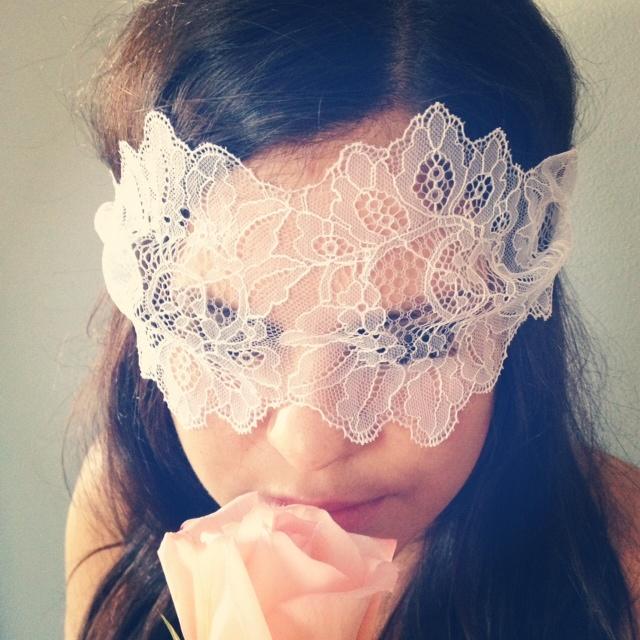 Anne Kristine Lingerie White Lace Mask <3