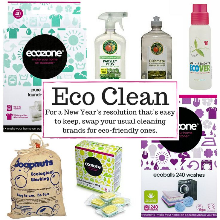 For a New Year's resolution that's easy to keep, swap your usual cleaning brands for eco-friendly ones.
