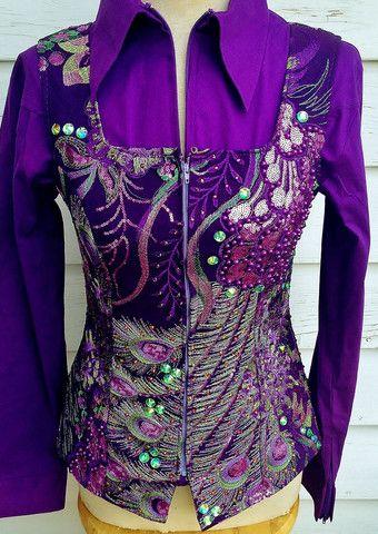 Purple Peacock Vest – The Bling Boutique | Western Show ...