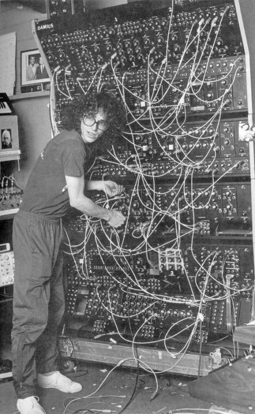 Member of the group TOTO's Steve Porcaro is working with a Polyfusion Modular Synth on the album TOTO IV    1982