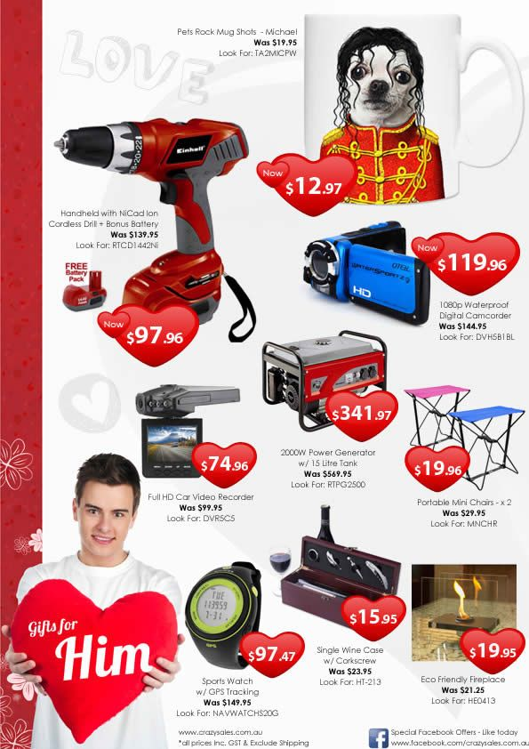 Great Valentine Gift Ideas for Him! :) Valentines Day 2013