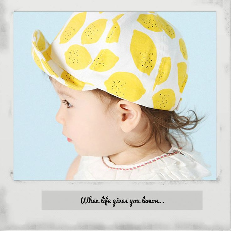 Fashion baby lemon cap