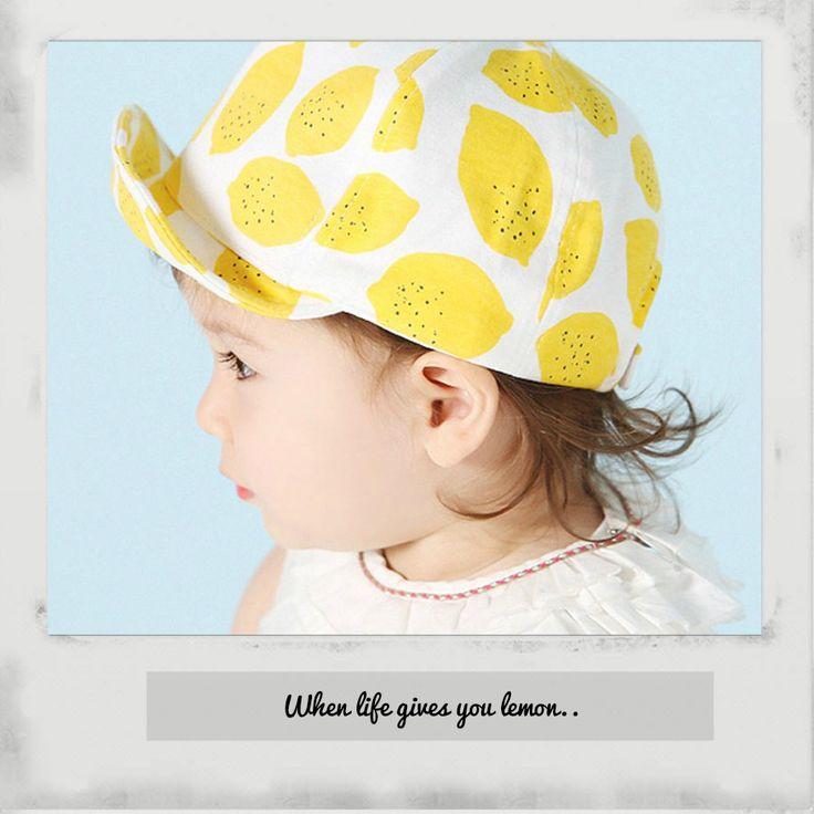 Fashion baby lemon cap