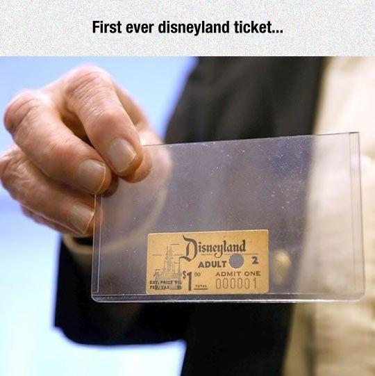 The First Disneyland Admission Ticket