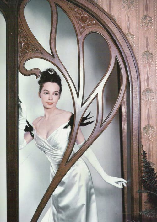 Leslie Caron in 'Gigi'. Costumes for the film, including this gown, were designed by Cecil Beaton