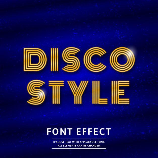 Disco Font Effect Modern Business Cards Design Business Card Template Design Shop Logo Design